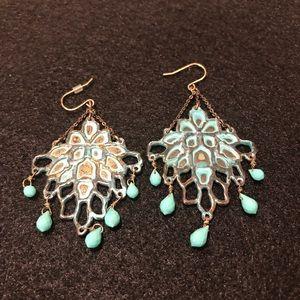 Chloe + Isabel Patina chandelier earrings